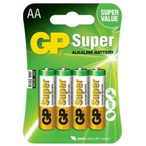 AA-batterier Super Alkaline, 1,5V, 4-pack