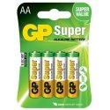 AA-batterier Super Alkaline, LR6 1,5V, 4-pack
