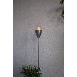 Solcellsfackla LED Olympos Rostfritt Stål