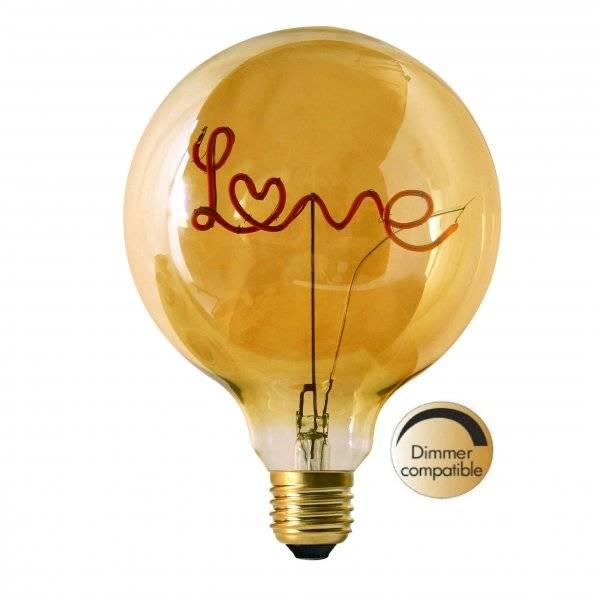 LED-Lampa Glob 125mm, Love E27 2000K 67lm 2,5W(7W)