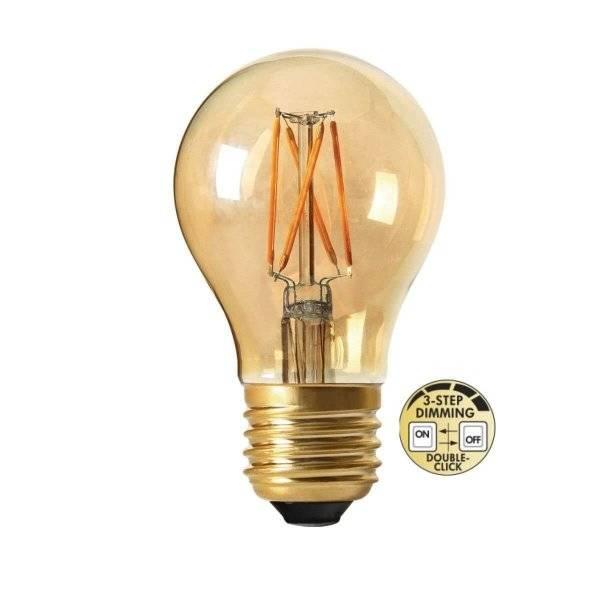 LED-Lampa 3-Steg DIM E27 2000K 220lm 4W (25W)