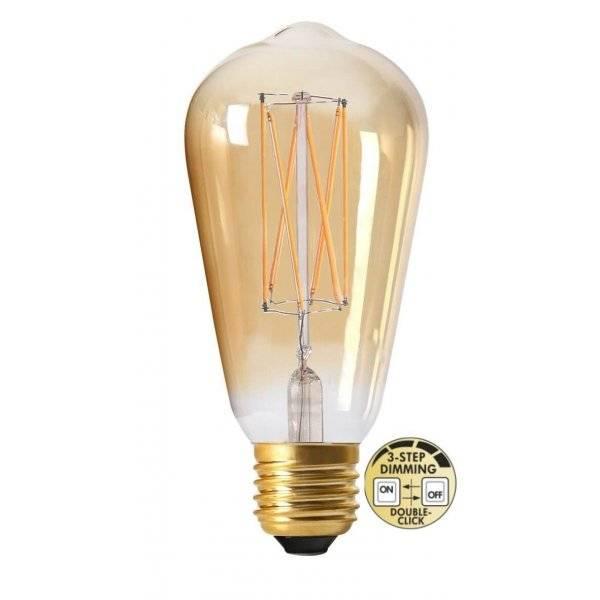 LED-Lampa 3-Steg DIM Lyktlampa E27 2000K 220lm 4W (25W)