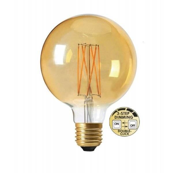 LED-Lampa 3-Steg DIM 95mm E27 2000K 220lm 4W (25W)