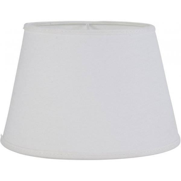 Indi Lampskärm Oval 20cm Vit