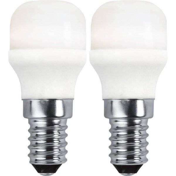 LED-Lampa Päron Opal, E14 3000K 140lm 1,5W(15W) 2-pack