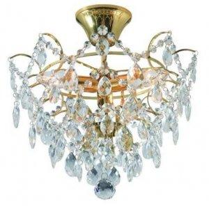 Rosendal Kristallplafond Guld 36cm 3xE14