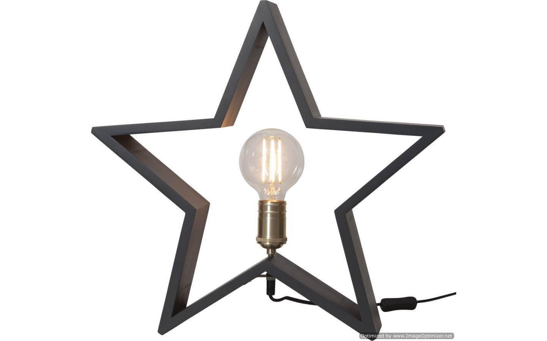 Lysekil Trästjärna Stor, 48cm Grå