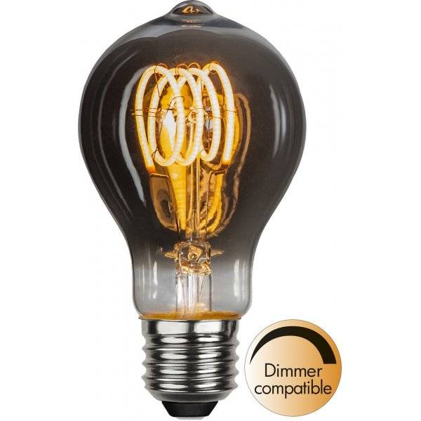 LED-Lampa Normal, Heavy Smoke, E27 2100K 70lm 3,7W(7W)