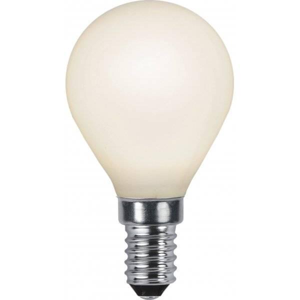 LED-Lampa Klot, Opal, E14 2700K 150lm 2W(16W)
