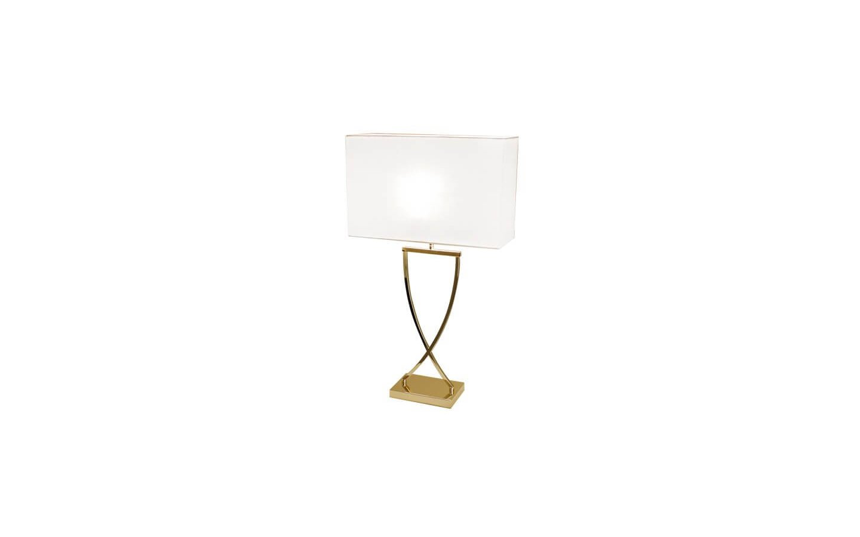 Omega Bordslampa 69cm Mässing/Vit