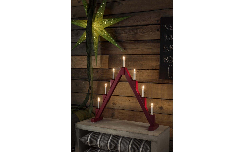 Saga Adventsljusstake Röd 56cm