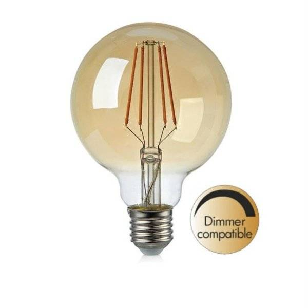 LED-Lampa Glob 95mm, E27 2200K 380lm 4W (35W)