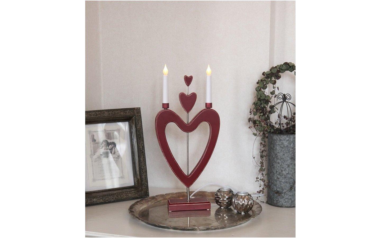 Love-Love-Love Ljusstake LED Röd