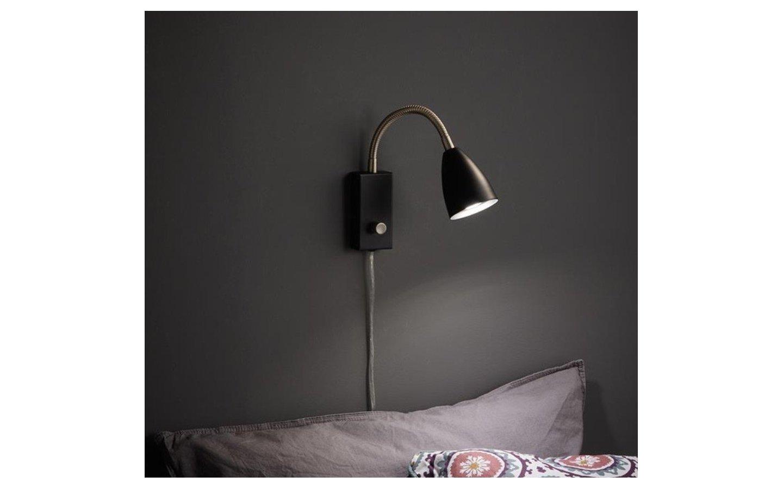 Ciro Vägglampa Flex Svart/Stål