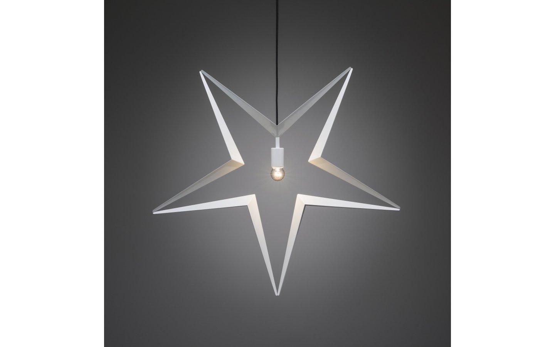 Hängande Metallstjärna Vit 80cm