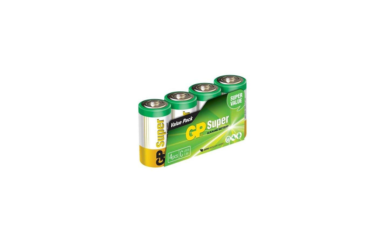 C-batteri Super Alkaline, LR14 1,5V, 4-pack