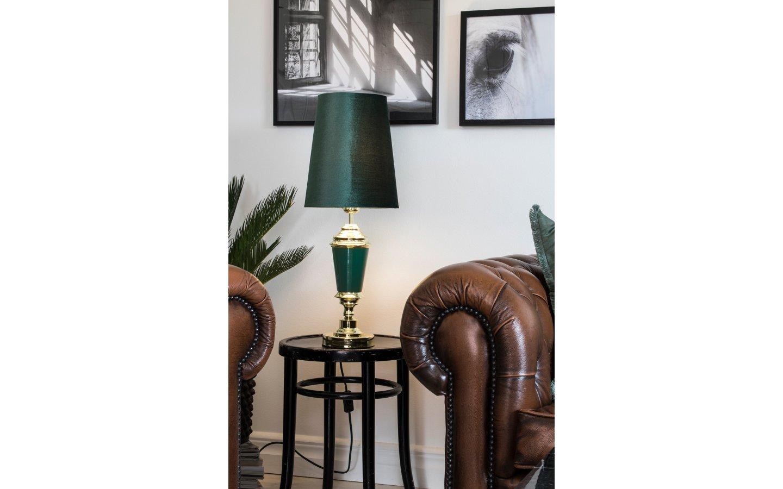 Wallenberg Bordslampa Grön/Mässing