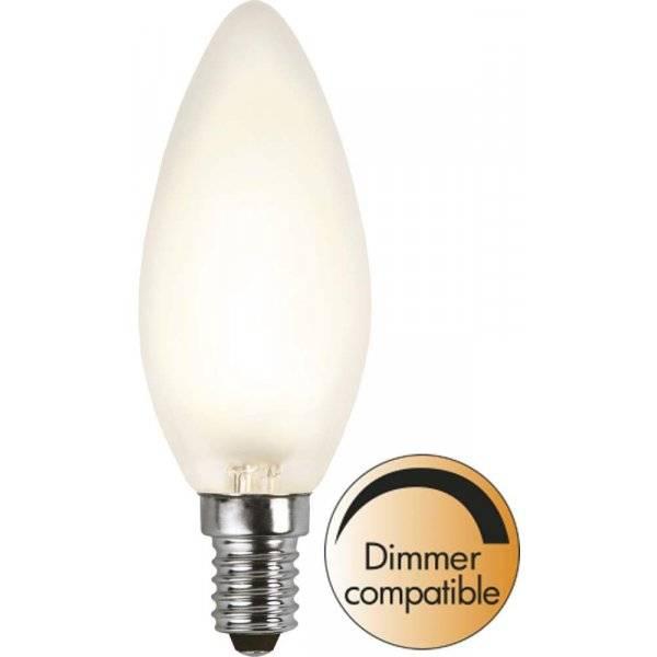 LED-Lampa Kron, Frostad E14 2700K 320lm 4W(30W)