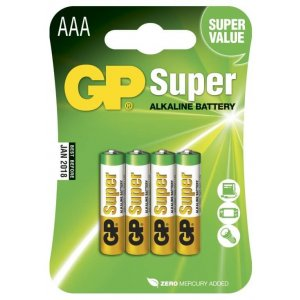 GP AAA-batterier, 4-pack