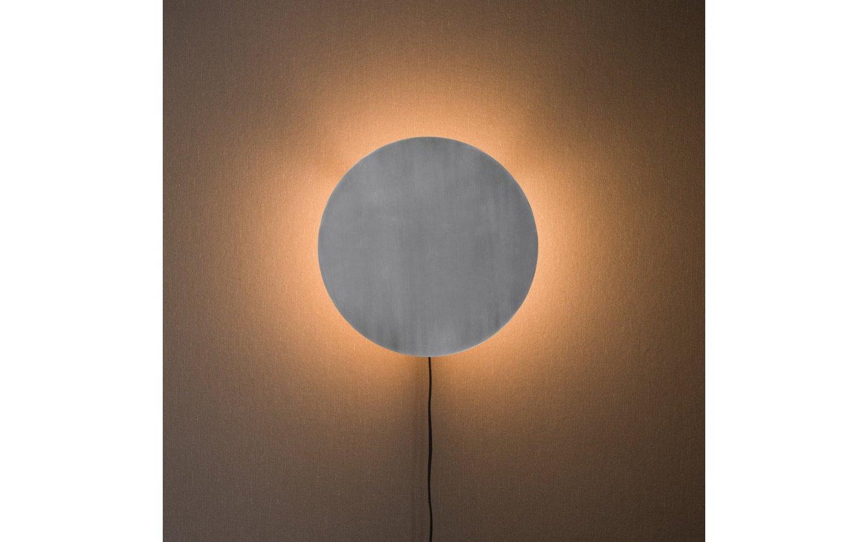 Fullmoon Vägglampa 35cm Pale Silver