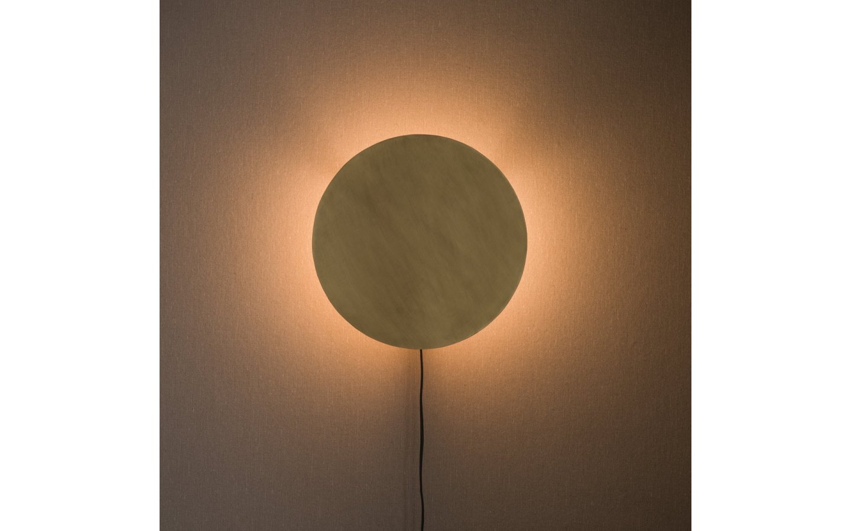 Fullmoon Vägglampa 35cm Pale Gold