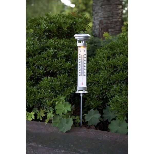 Celsius Solcellslampa Termometer, 57 cm Varmvit 0,06W