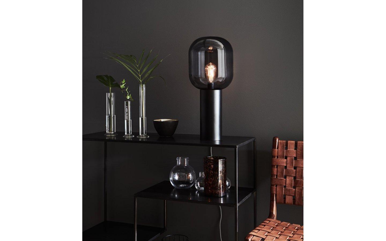 Brooklyn Bordslampa Svart/Rök