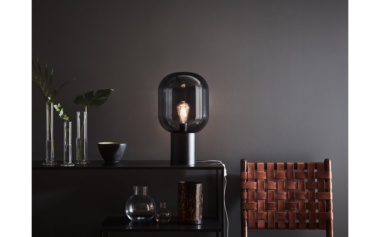 Brooklyn Bordslampa 44cm Svart/Rök