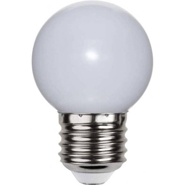 LED-Lampa Klot, Opal LED E27 2700K 15lm 1W(1,5W)