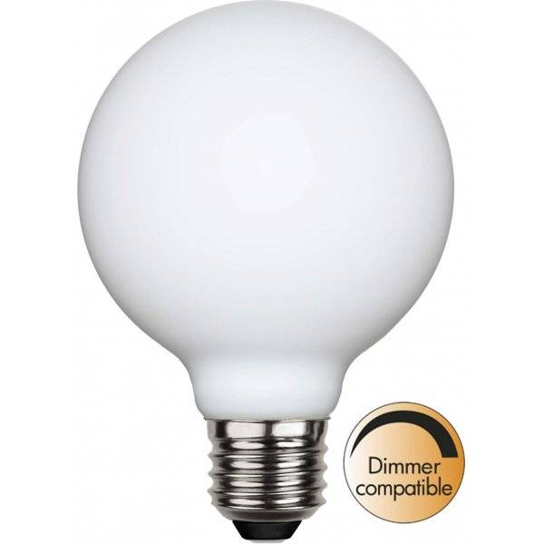 LED-Lampa Glob 80mm, Opal, E27 2600K 400lm 5W(35W)