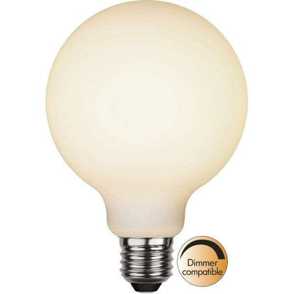 LED-Lampa Glob 95mm, Opal E27 2700K 400lm 5W(35W)