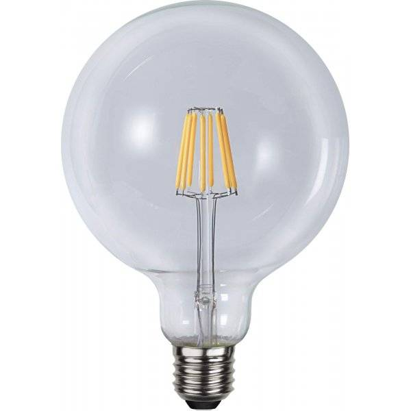 LED-Lampa Glob 125mm, E27 2700K 600lm 6W(48W)