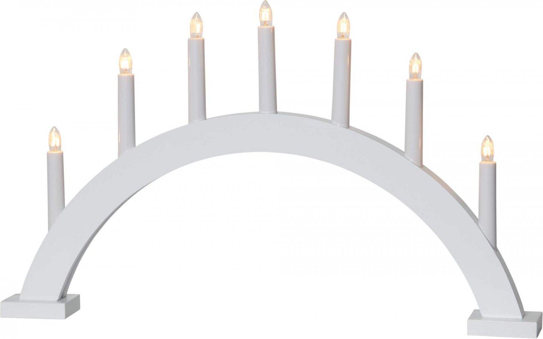 Trapp Adventsljusstake Vit 34 cm