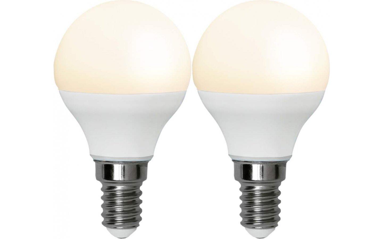 LED-Lampa Klot, Opal E14 3000K 250lm 3W(25W) 2-pack