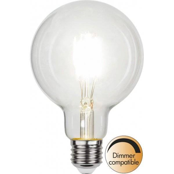 LED-Lampa Glob 95mm, LED E27 4000K 470lm 4W(40W)