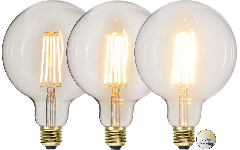 Köp LED Lampa 3 Steg DIM Glob 125mm, E27 2100K
