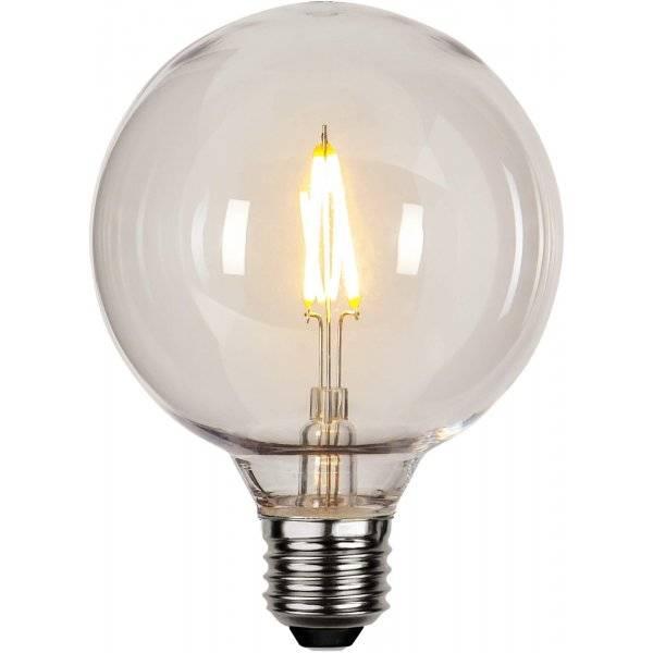 LED-Lampa Glob 95mm, Plast E27 2700K 80lm 0,6W(10W)