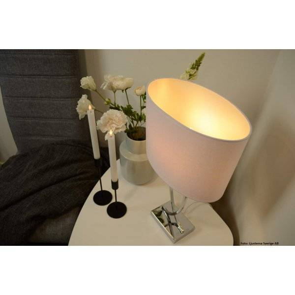 Köp Posh Bordslampa KromVit från Aneta