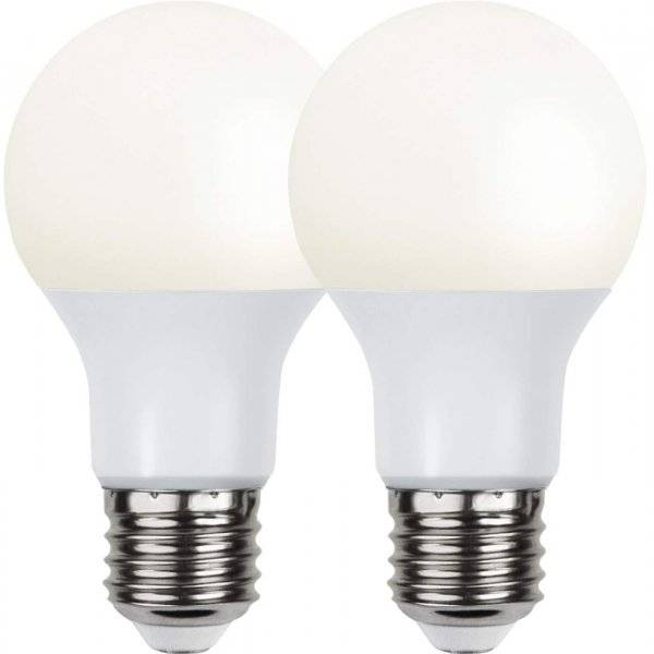 LED-Lampa Normal, Opal E27 3000K 800lm 9W(60W) 2-pack