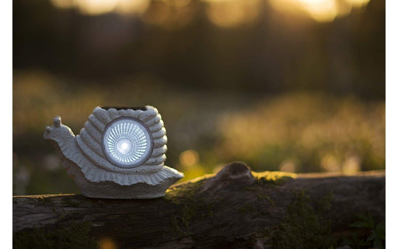 Solcellslampa Snigel med hus