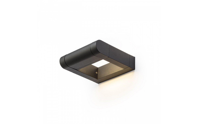 AQUE vägg matt svart 230V LED 8W IP54 3000K