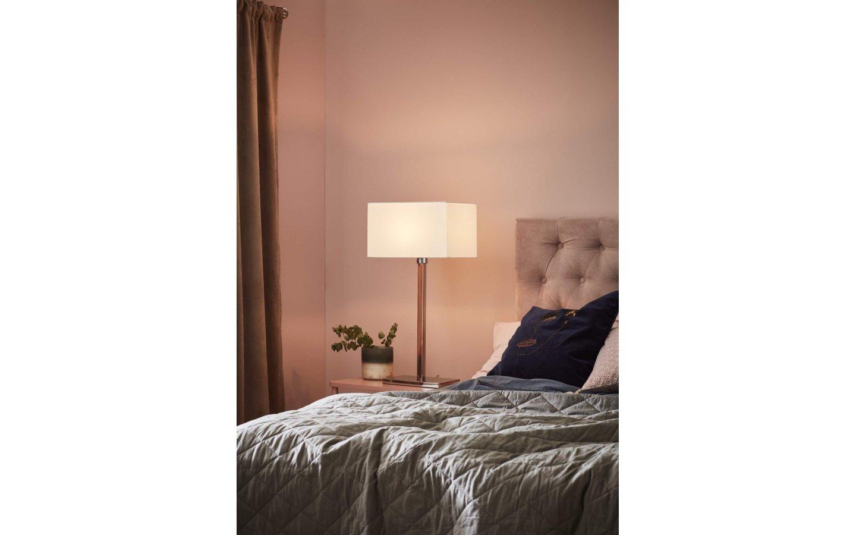 Savoy XL Bordslampa Vit/Krom