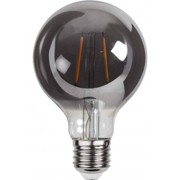 LED Lampa Glob 80mm, Plain Smoke E27 2100K 80lm 1,8W(8W)