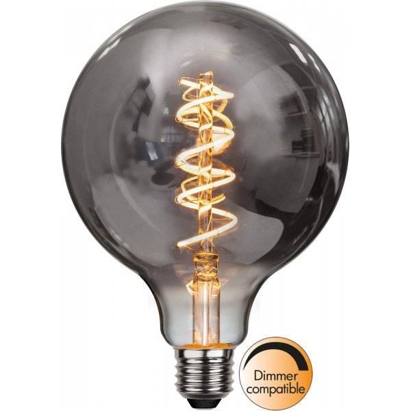 LED Lampa Glob, Heavy Smoke 125, E27 2100K 95lm 4W(6W)