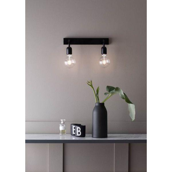 Köp Regal 2L Vägglampa Badrum IP21 Mattsvart från