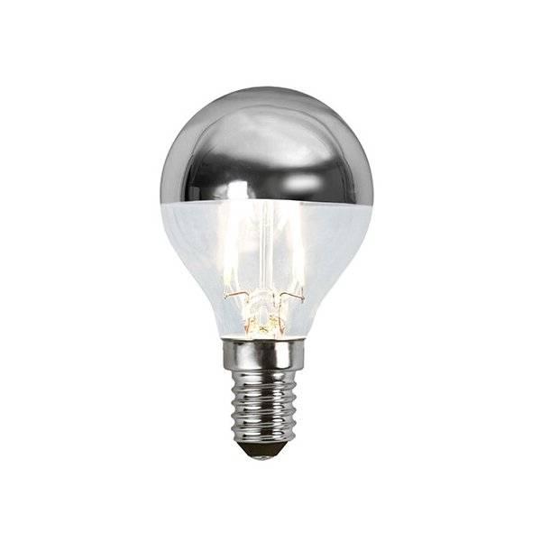 LED-Lampa Klot, Toppförseglad Silver E14 2700K 180lm 1,8W(15W)