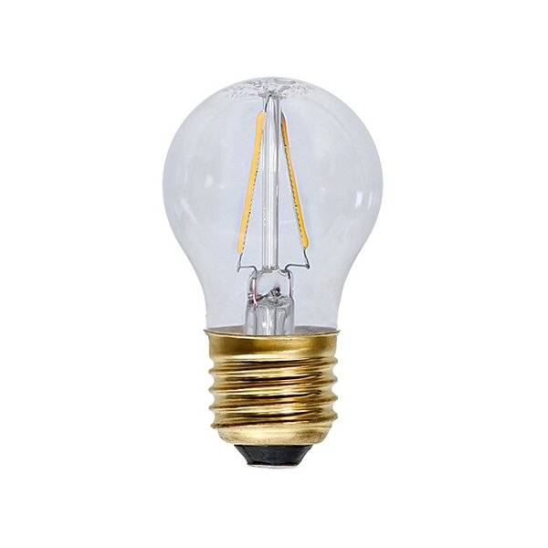Kolfilament Lyktlampa LED E27 2700K 120lm 2W