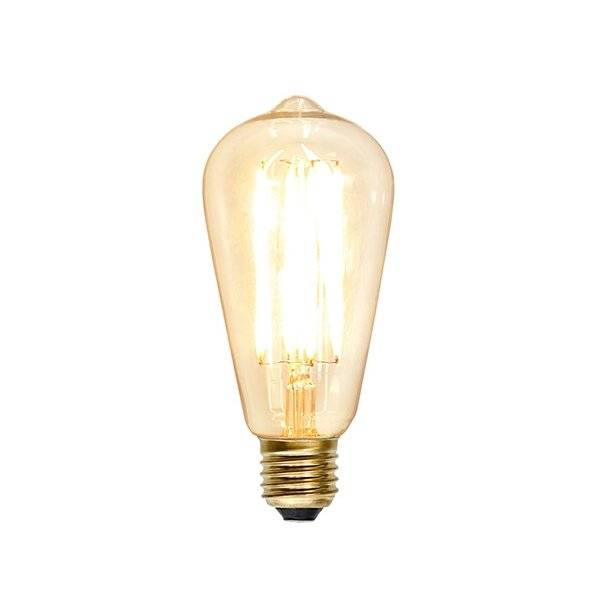 Kolfilament Lyktlampa Oval 142mm LED E27 2200K 140lm 1.8W