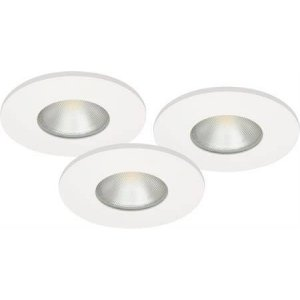 Downlightset MD-315, LED, 230V, Vit, IP44