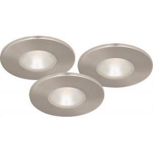 Downlightset MD-315, LED, 230V, Satin, IP44